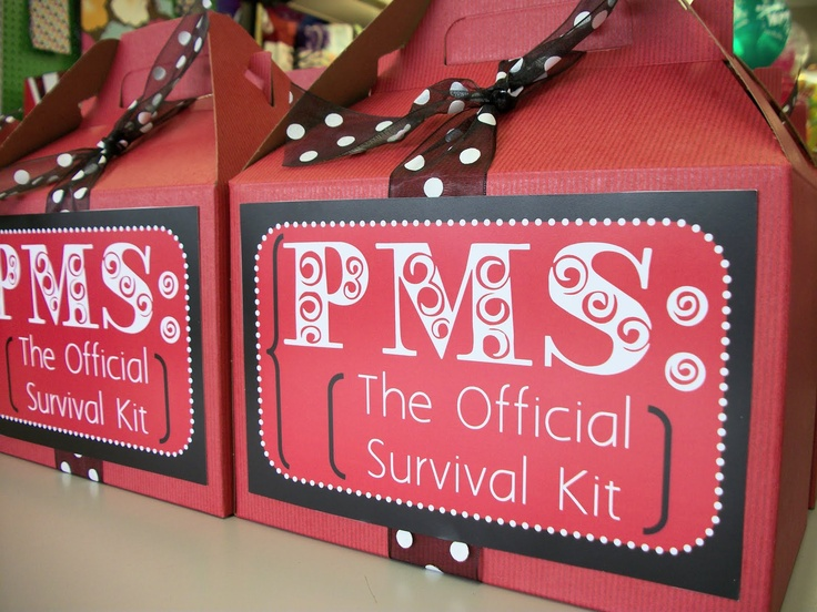 PMS Kit, for when those specials girls in my life hit puberty lol