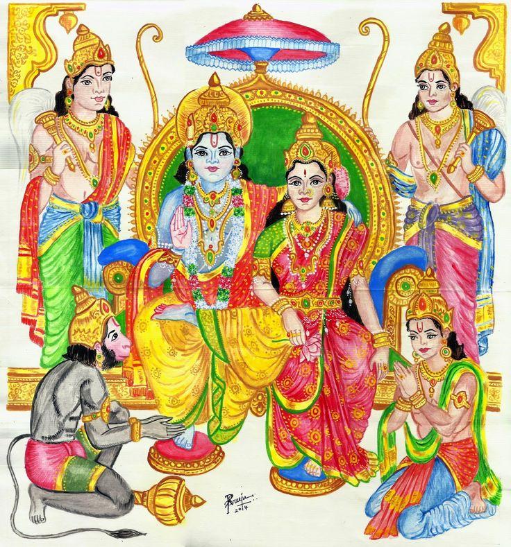 Ram Darbar -Poster Painting by Sreeja Renganath