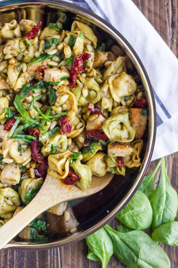 One Skillet Chicken Tortellini