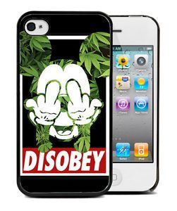 ★★★coque Bumper iPhone 4 4S 5S 6 Mickey Mouse Swag Disobey Weed Cannabis Case | eBay