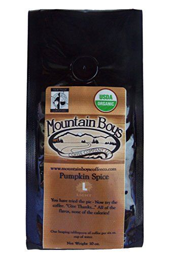 Premium Organic Coffee Beans AIRROASTED Means Richer Smoother Cleaner  Mellower Coffee  10 Oz Pumpkin Spice 1Pack *** Read more reviews of the product by visiting the link on the image.