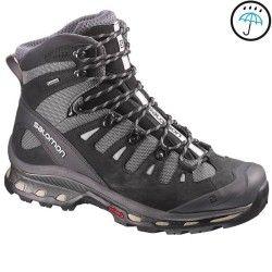Hiking shoes Hiking - Quest Men's Waterproof Walking Boots - Grey/Black Salomon - Hiking Footwear and Accessories