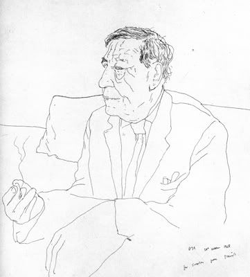 W H Auden by David Hockney