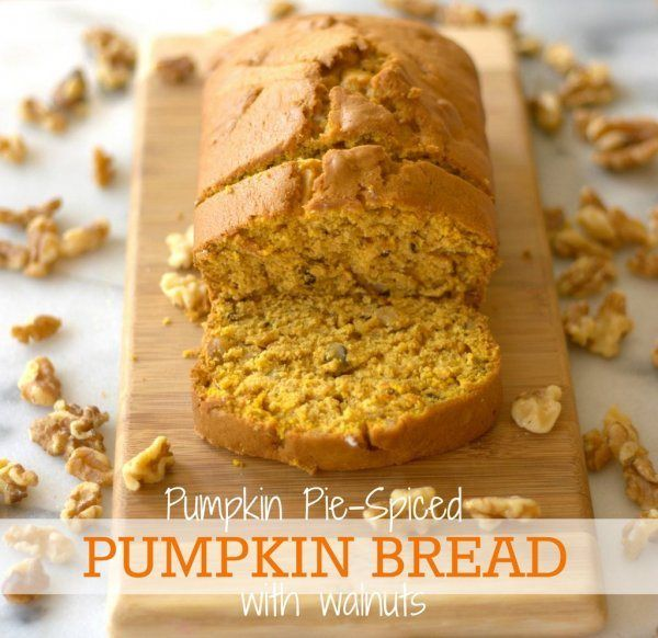 Pumpkin Pie-Spiced Pumpkin Bread with Walnuts: a family favorite for ...