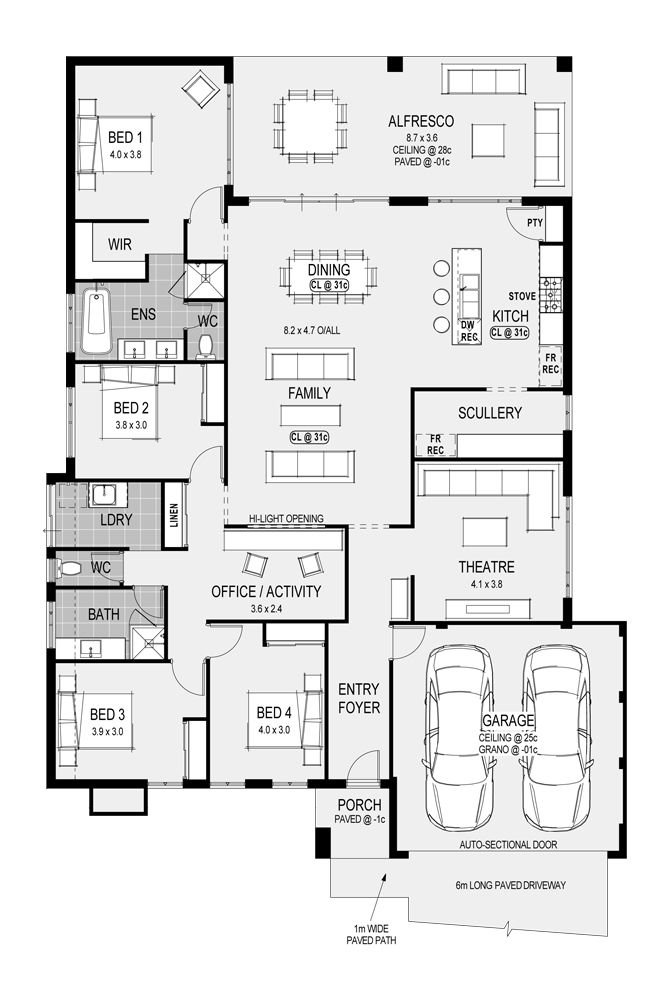 42 best images about house plans on pinterest front for Loft home designs perth