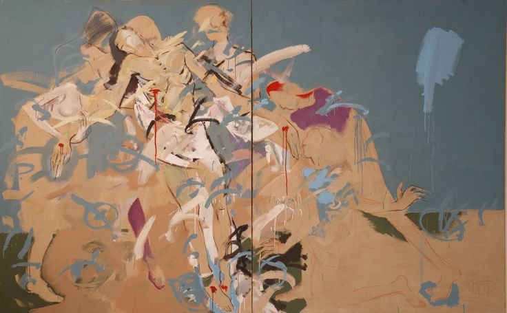 Title: Compozitie V / Size: 360x200cm / Style: Oil on Canvas / Year: 1999