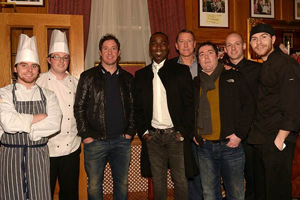 Robbie Fowler, Andy Cole & Ray Parlour at Scholars