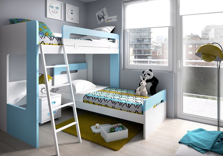 Cool and unique, the kids room set by Rimobel Furniture, Spain, features color combination that will give your room an funny character #sohomod