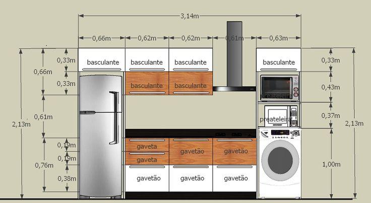 Armários de cozinha, caixa em mdf branco texturizado e portas em mdf texturizado banco e madeira padrão Naturale Nogal Champanhe, gavetas com corrediças simples...