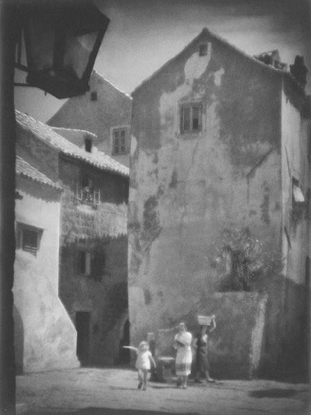 Tadeusz Wański collection / Senj, Zaułek z latarnią / Chorwacja / 40 x 30 cm, bromolej