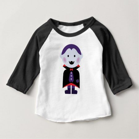 Vampire kid design on white baby T-Shirt - click/tap to personalize and buy