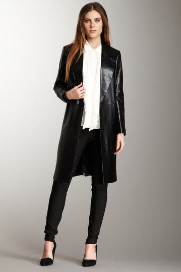 Robert Rodriguez Modern Leather Coat by Everyday Chic: Black Boutique on @HauteLook