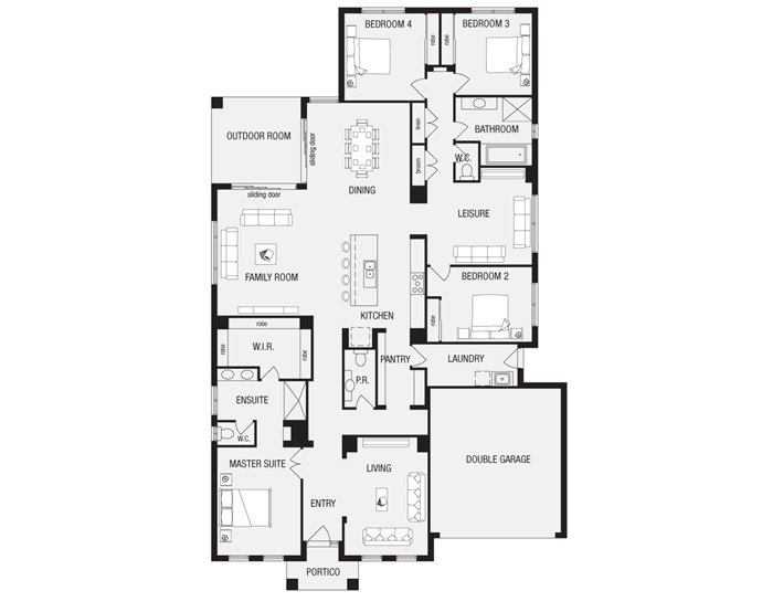 Lincoln 32, New Home Floor Plans, Interactive House Plans