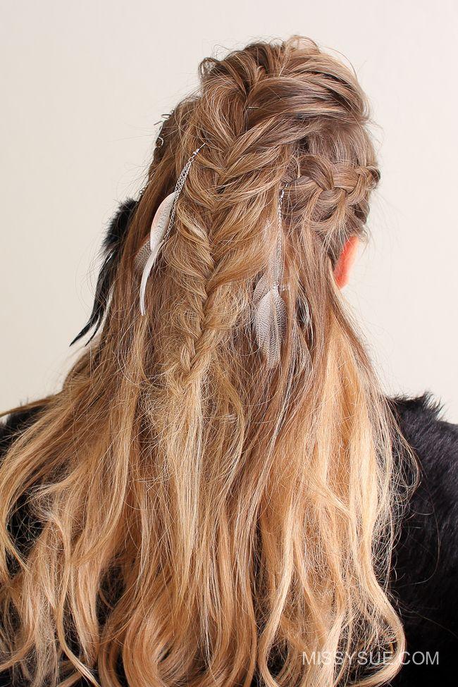 Viking Warrior Halloween Hairstyle Missy Sue Indianer Frisur Halloween Haar Halloween Frisuren