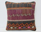 embroidered pillow 18x18 modern throw pillow sofa bohemian pillow cover ethnic design lake house decor turkish primitive country decor 25950