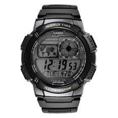 Casio Jam Tangan AE-1000W-1BVDF - Hitam-Silver
