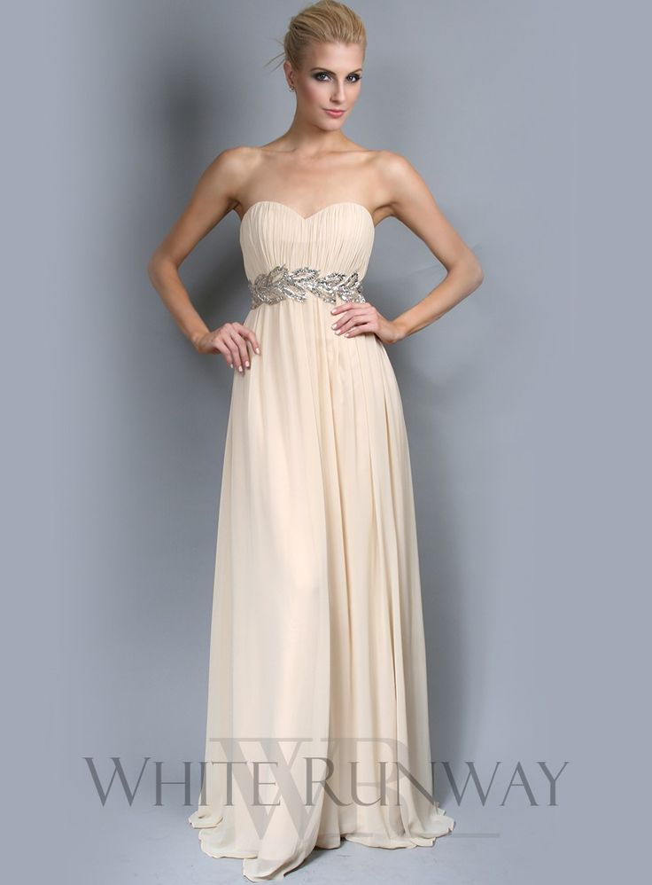 Grecian Strapless Bridesmaid Dress - A strapless formal dress with ...