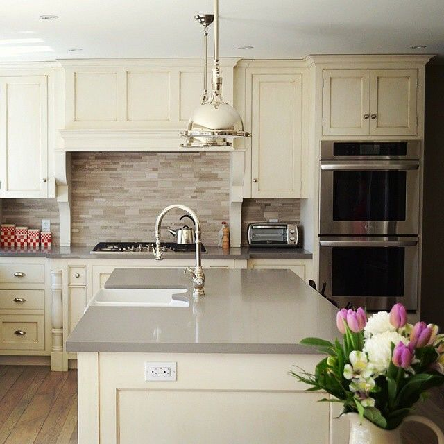 This Charming, Cottage Style Kitchen Designed By @cranberryhillkitchens  Features Our Countertops In Ginger