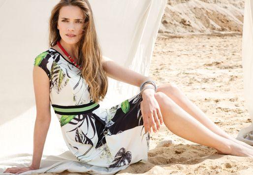 #dress #maxidress #leaves #printed #tropical #floral #fashion #fashionbrand #SS16 #getthelook #shoponline #buynow #elegant #elegance #summerfashion #ss2016 #semper