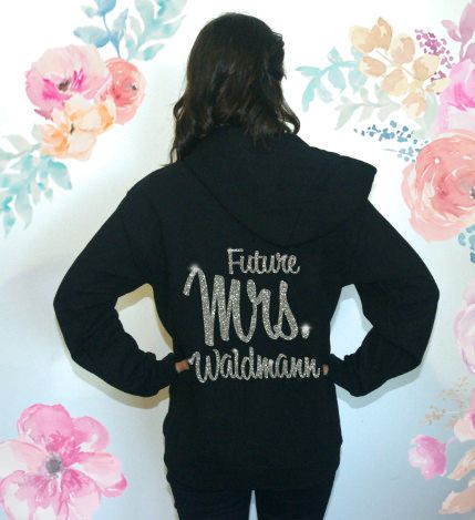 ♥♥ This Listing is for 1 zip-up hoodie jacket with options chosen below. ♥♥ AT CHECKOUT PUT PER HOODIE: 1. size 2. hoodie color 3. writing wanted on hoodie back 5. writing color wanted (choose from options below) WRIITNG COLOR OPTIONS: - Non-sparkly: black white gray fuchsia pink
