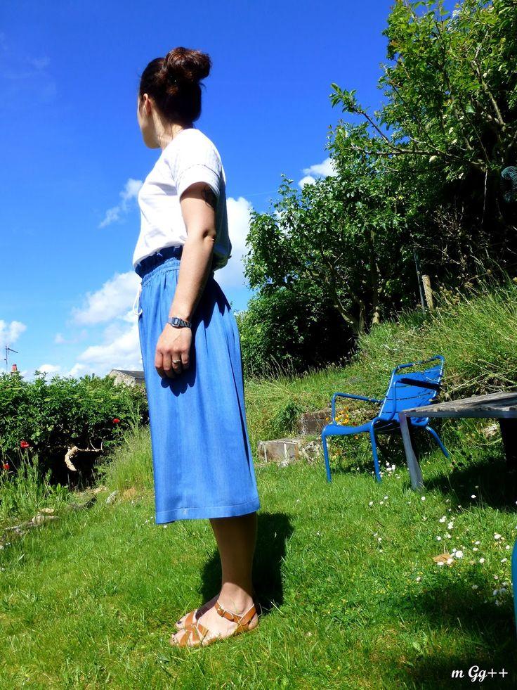 """Une Tenue """"HomeMade""""... (Tee-shirt : """"Trop-Top"""" d'IvanneS ; Jupe : Patron maison) par m Gg++"""