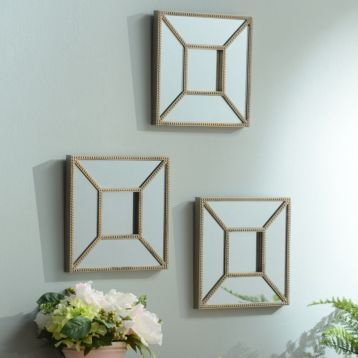 Wall Mirror Set Of 3 32 best mirrors images on pinterest | mirror mirror, round mirrors