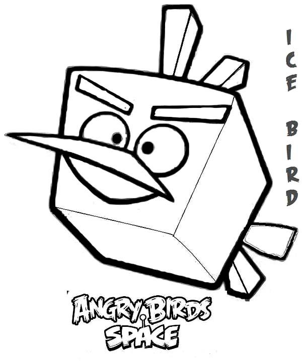 Angry Birds Ice Bird In Angry Bird Space Coloring Page Space Coloring Pages Bird Coloring Pages Minion Coloring Pages