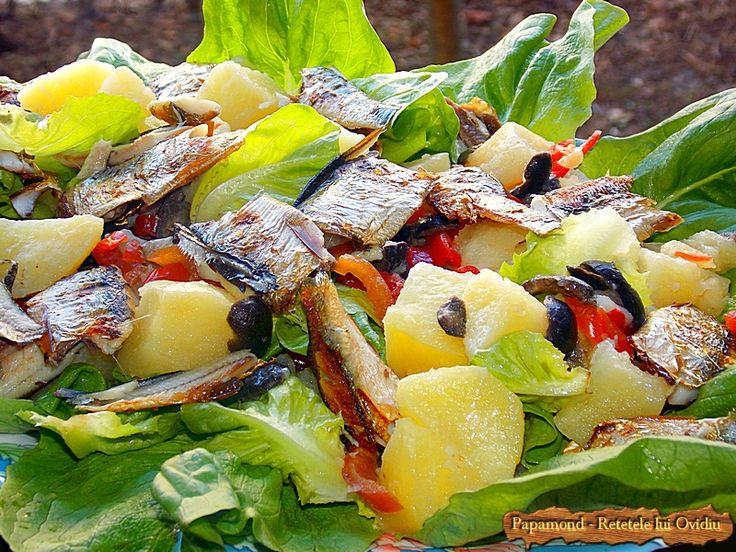 Salata cu peste preparat la grătar | Papamond Salad with grilled fish #salad, #fish
