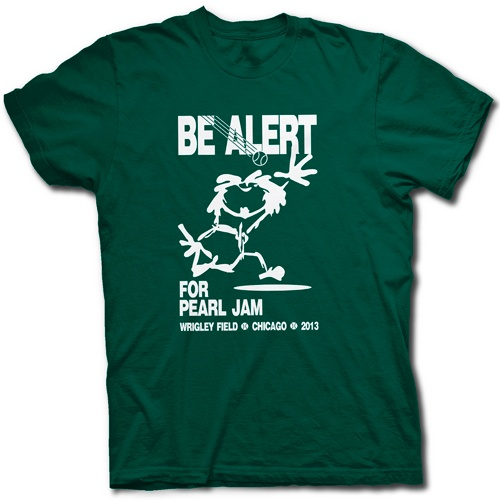 PEARL JAM WRIGLEY FIELD CONCERT T SHIRT - Vedder Comes Home For Chicago Cubs Show....I would have given my left arm to be at that concert!