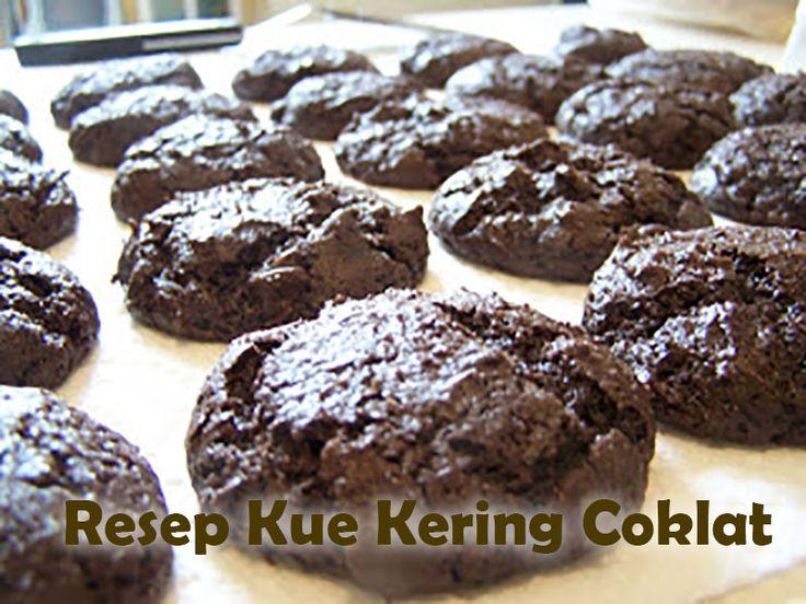 Inilah resep kue kering coklat dan Coklat Chip, atau chocolate Cookies, yang ternyata mudah, cara membuat kue coklat memerlukan bahan kue yang umun