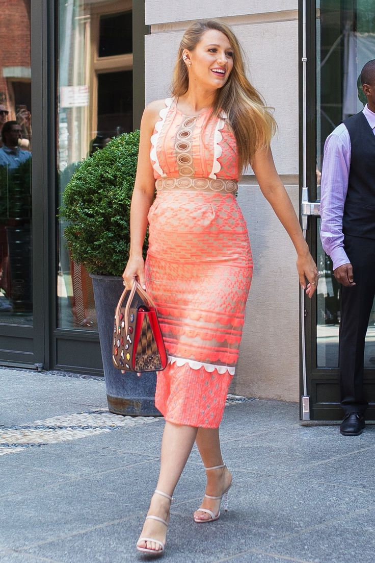 The Best Of Blake Livelys Colorful Glam Bold Pregnancy Style