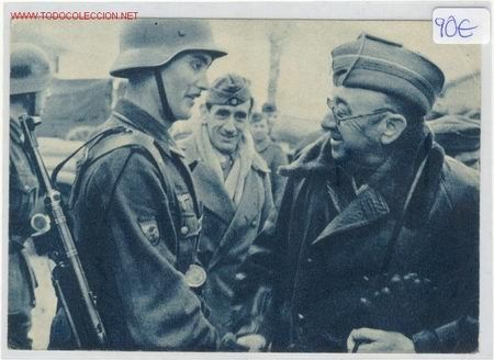 POSTAL DE LA DIVISION AZUL (Postales - Postales Temáticas - II Guerra Mundial y División Azul)