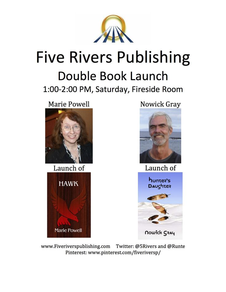 Book Launch at When Words Collide, Calgary author convention, August 14-16, 2015. In addition to the book launch session, Five Rivers will host a pitch session, a blue pencil café, and participate on the publishers panel.