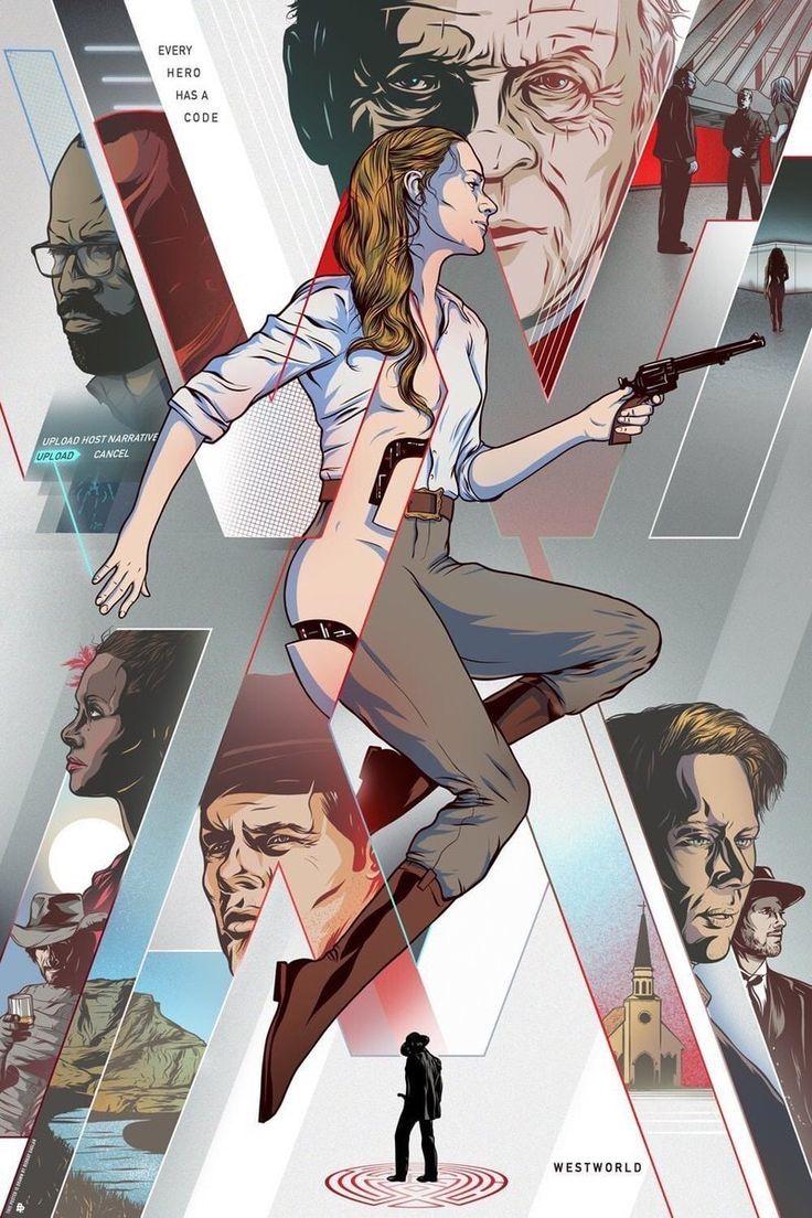 Westworld fan art from graphic designer Jack Helean and illustrator Berkay Daglar