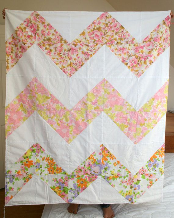 29 best Quilt images on Pinterest | Jellyroll quilts, Craft and ... : chevron stripe quilt pattern - Adamdwight.com