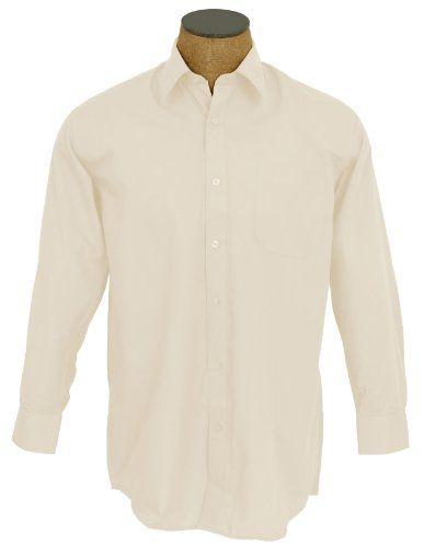 Men's Solid Color Cotton Blend Dress Shirt - Ivory 18.5 36-37 Sunrise Outlet,http://www.amazon.com/dp/B00A2OBKJ4/ref=cm_sw_r_pi_dp_jPa4sb1RR07ZJAM9