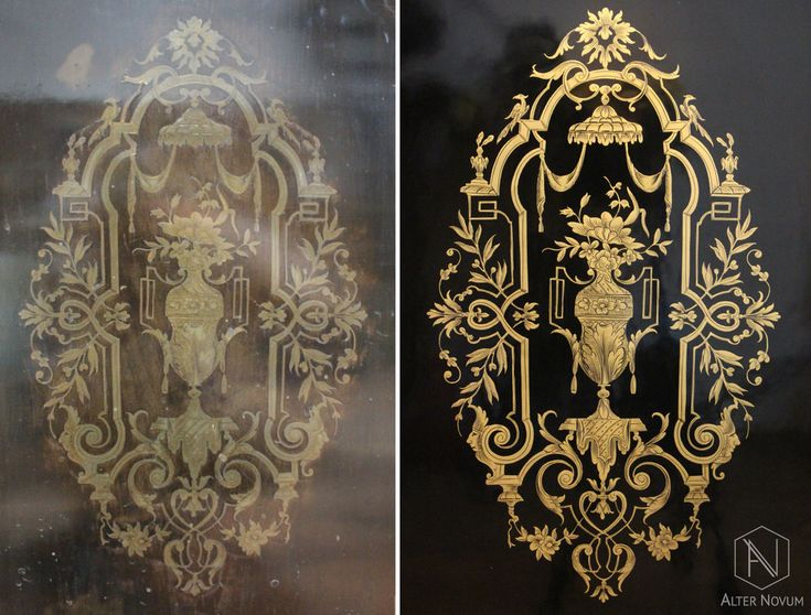 Szafka Napoleon III - renowacja antyków Kraków
