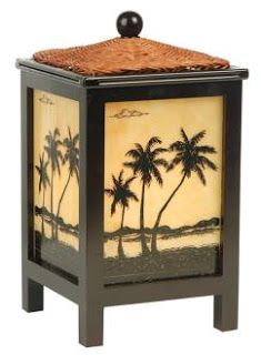 palm tree bedroom decor | and a palm tree lamp that glows from within from Lamps Plus.