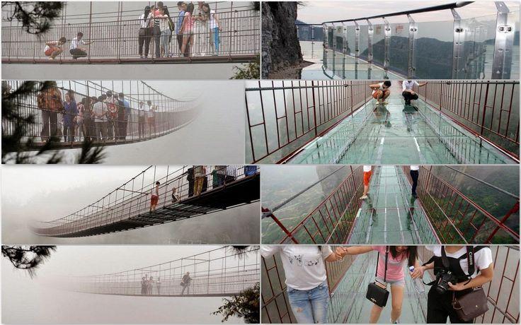 puente con suelo de vidrio en China