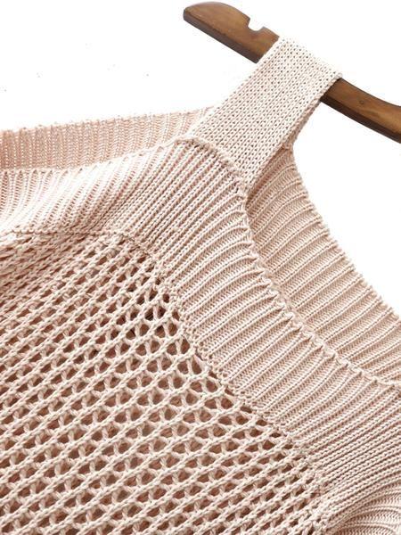 Bust(Cm): S:122cm, M:126cm, L:130cm Size Available: S,M,L Sleeve Length(Cm): S:24cm, M:25cm, L:26cm Length(Cm): S:40cm, M:41cm, L:42cm Season: Fall Fabric: Fabr