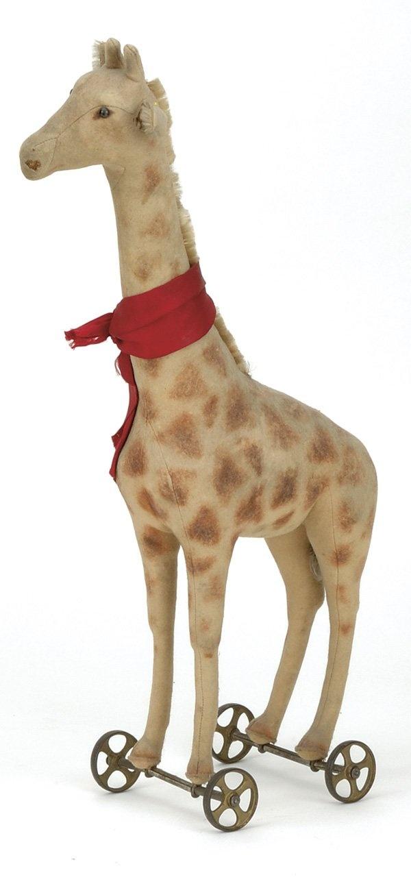 Early Steiff Giraffe on Wheels : Lot 432