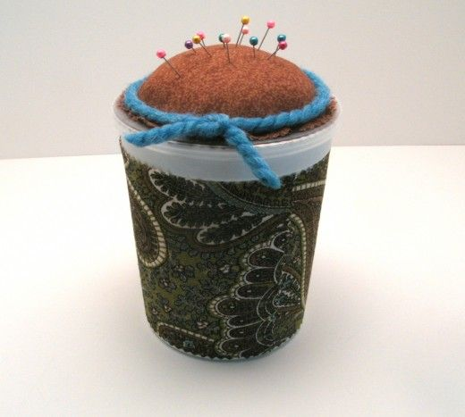 Make This Easy Sewing Kit Using an Upcycled Yogurt Container