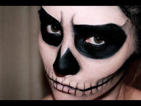 Makeup scheletro facile anche per bambini - VideoTrucco