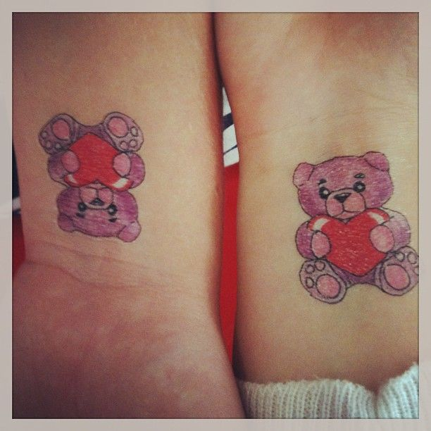Bear Tattoo Small: 31 Cute Tattoo Ideas For Couples To Bond Together
