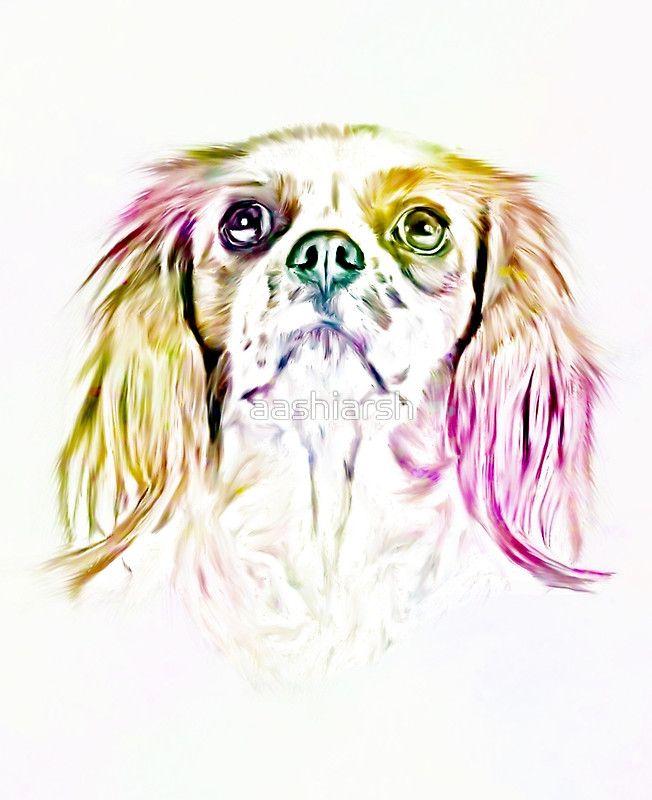 #Cavalier King Charles #Spaniel #Dog Art #Painting #offer #sale 20% OFF use code twentyoff