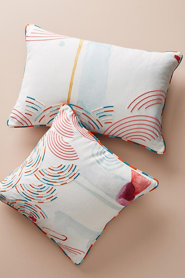 Slide view 7 abstract watercolor pillow