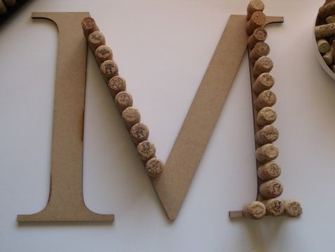 diy projects wine cork monogram