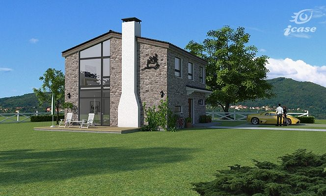 Proiecte de case cu piatra de rau - o simbioza intre traditional si modern