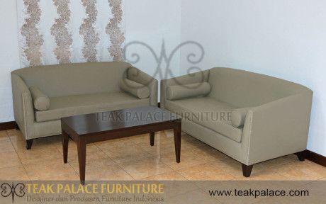 Sofa Minimalis Kulit Set Ruang Keluarga Bandung Harga Murah