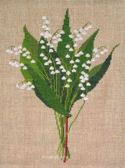 Lily of the Valley - pattern by Haandarbejdets Fremme.
